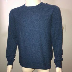 Giasone 100% Cashmere Blue Sweater Crew Neck Large